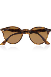 Round-frame acetate sunglasses