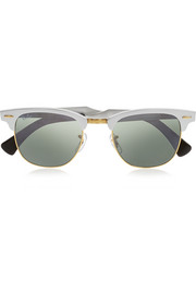 Ray-Ban Clubmaster  silver and gold-tone sunglasses