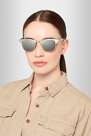 Clubmaster  silver and gold-tone sunglasses