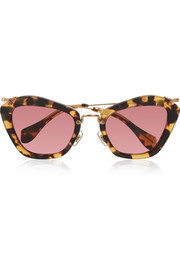 Miu Miu Cat-eye acetate sunglasses