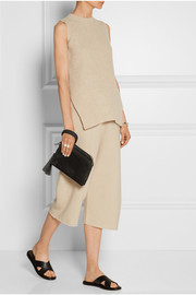 The Row Suede clutch