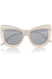 Queenie cat-eye acetate mirrored sunglasses