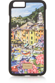 Portofino printed leather iPhone 6 case