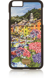 Portofino printed leather iPhone 6 Plus case