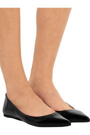 MICHAEL Michael Kors Arianna patent-leather point-toe flats