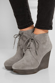 MICHAEL Michael Kors Pierce suede wedge ankle boots