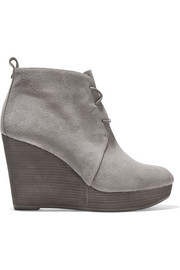 Pierce suede wedge ankle boots