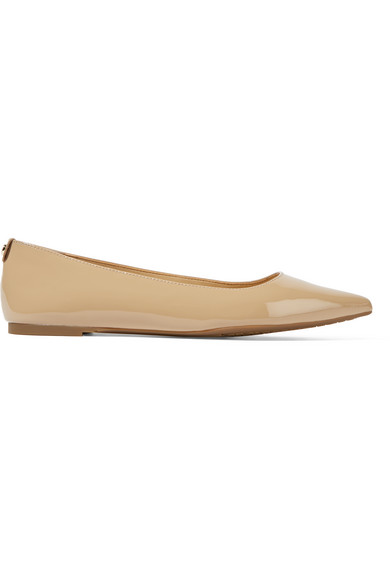 059c4cdb68e MICHAEL Michael Kors. Arianna patent-leather point-toe flats