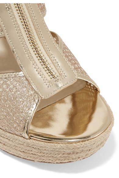 9c2f39c1734 Damita glittered leather espadrille wedge sandals