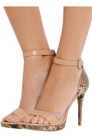 MICHAEL Michael Kors Sienna snake-effect leather sandals