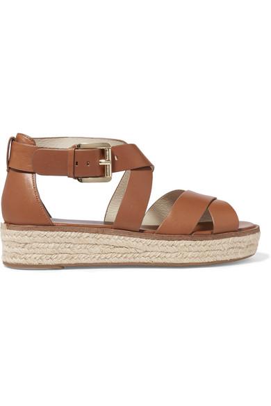 f9f1317a377b MICHAEL Michael Kors. Darby leather espadrille platform sandals