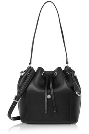 MICHAEL Michael Kors Greenwich medium textured-leather bucket bag