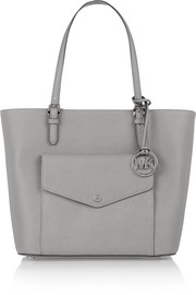 Jet Set large textured-leather tote