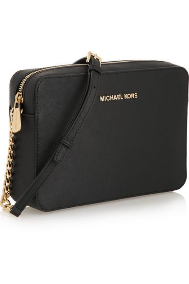 michael michael kors jet set travel large textured leather shoulder bag net a porter