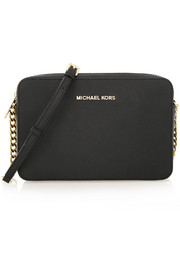 MICHAEL Michael Kors Jet Set Travel large textured-leather shoulder bag