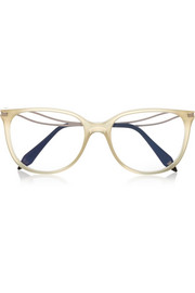 Kitten cat-eye acetate optical glasses