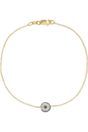 Ileana Makri Leda 18-karat gold, diamond and sapphire bracelet