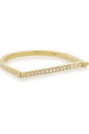 Ileana Makri Turning Bar 18-karat gold diamond ring