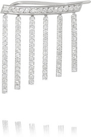 Ileana Makri Curtain 18-karat white gold diamond earring