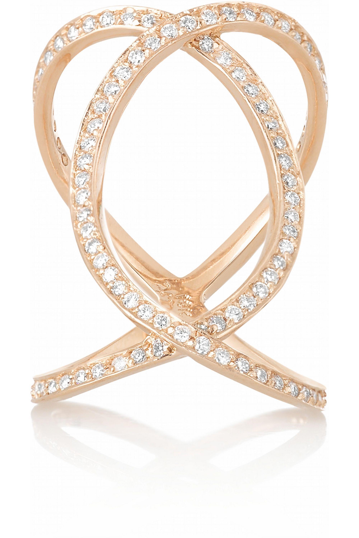 Anita Ko Double Infinity 18-karat rose gold diamond ring