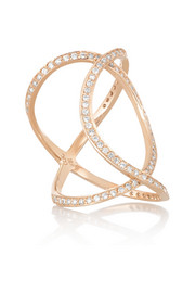 Double Infinity 18-karat rose gold diamond ring
