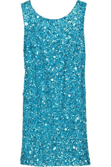 Notte by Marchesa Sequined silk V-back dress