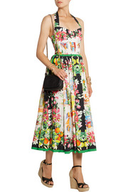 Dolce & Gabbana Portofino printed cotton-poplin dress