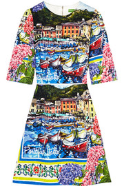 Dolce & Gabbana Portofino printed brocade mini dress