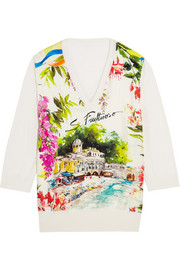 Portofino printed silk sweater