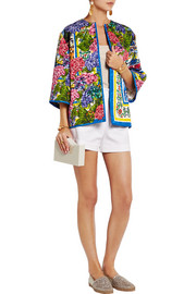 Portofino printed brocade jacket