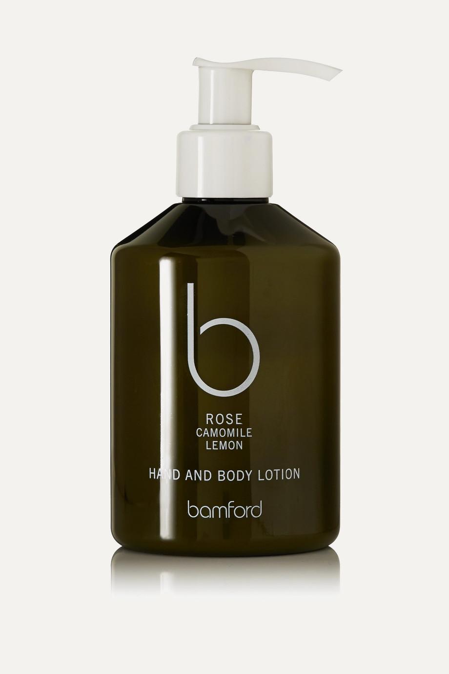 Bamford 玫瑰花香手部和身体乳液,250ml