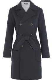Cotton and wool-blend trench coat