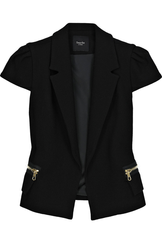 Smythe Cap-sleeved wool-blend jacket