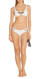 Agent Provocateur Lilah embellished cutout bikini top