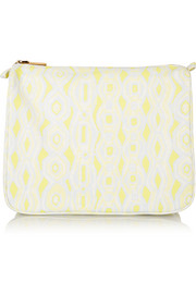 Ikat large printed canvas cosmetics case