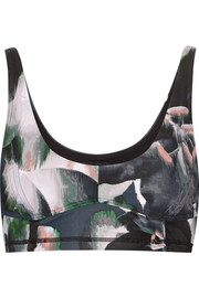 Behati printed stretch-jersey sports bra