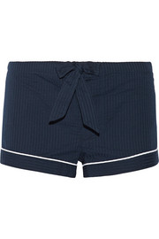 Bodas Seersucker cotton pajama shorts