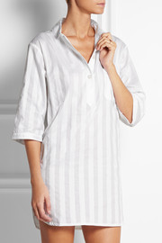 Shadow Stripe cotton nightshirt