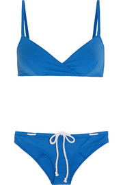 Yasmin stretch-crepe triangle bikini