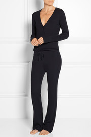 Ribbed cotton and cashmere-blend jumpsuit
