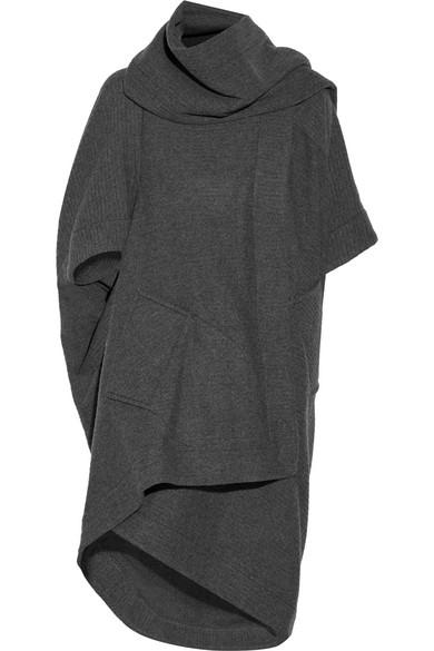 Vivienne Westwood Anglomania - Ribbed Wool-blend Blanket Coat - Dark gray