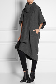 Vivienne Westwood Anglomania Ribbed wool-blend blanket coat