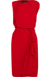 Rixon draped crepe dress