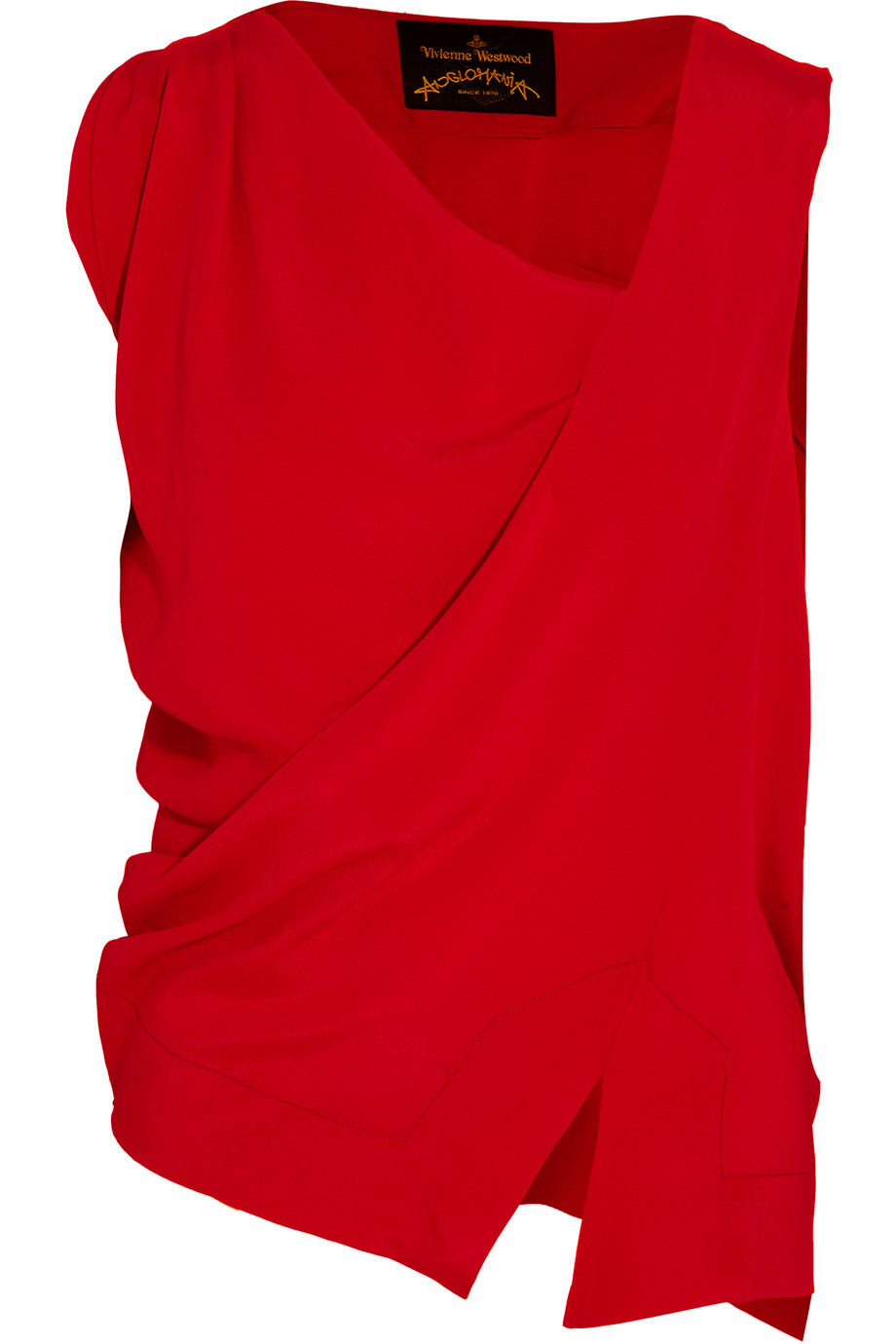 Tine Draped Crepe Top, Vivienne Westwood Anglomania, Red, Women's, Size: 42