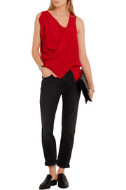 Vivienne Westwood Anglomania Tine draped crepe top