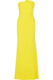 Mercer wool-crepe gown
