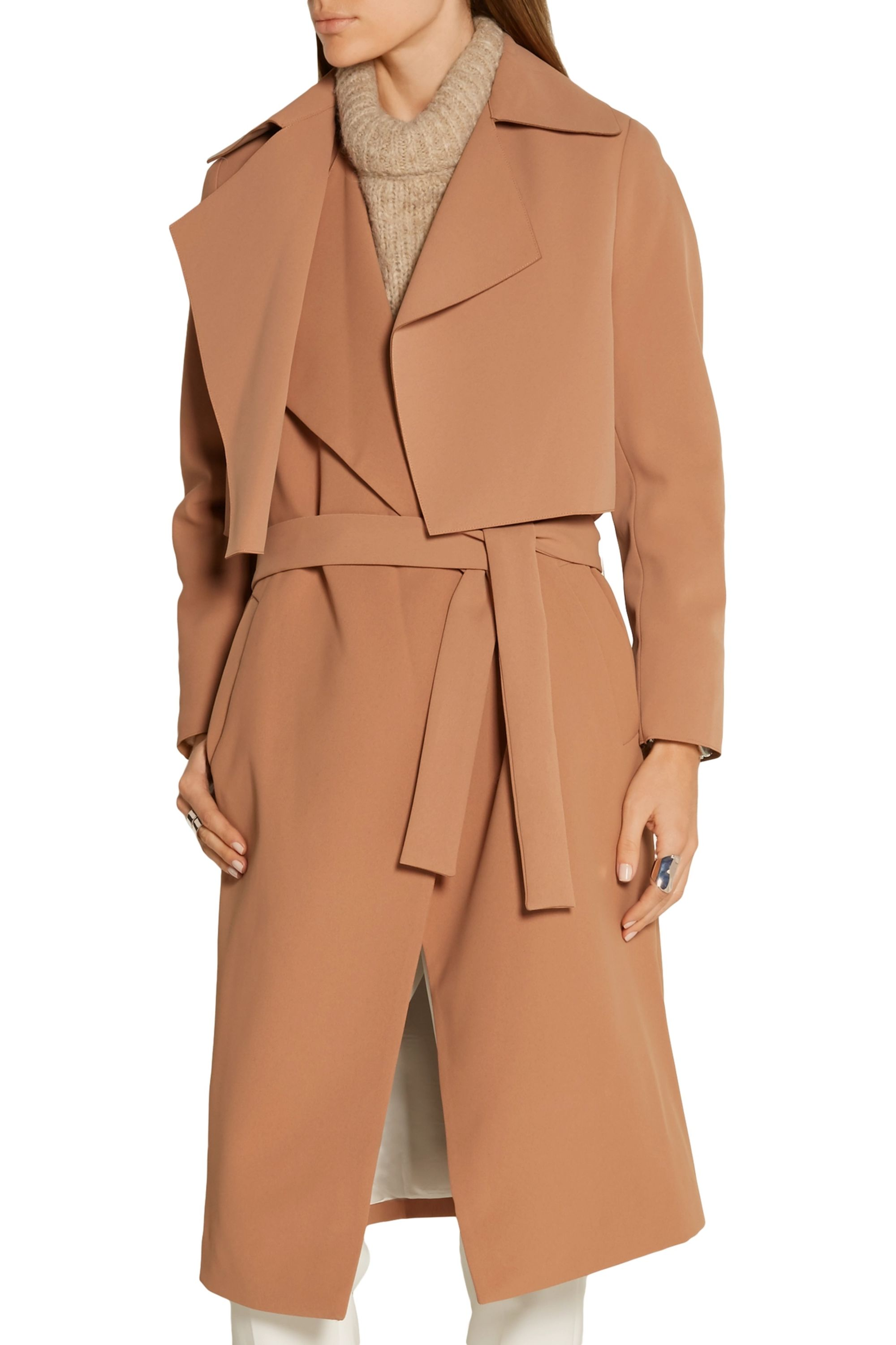 By Malene Birger Pasinios convertible crepe trench coat