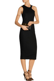 Irisa cutout wool-blend dress