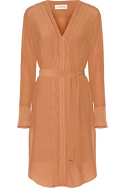 By Malene Birger Ilse organza-trimmed crepe dress