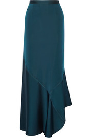 Zalah stretch-satin jersey maxi skirt
